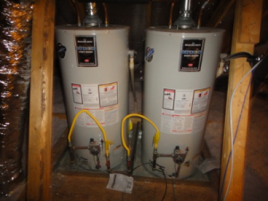 Traditional tank gas water heaters